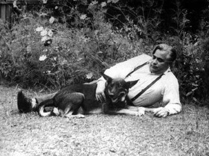 Vladimir Petrov and his beloved dog Jack. Image courtesy of Newspix.